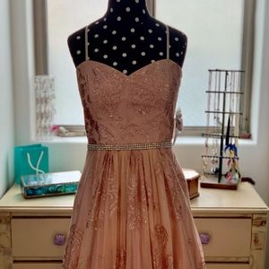 PROM Dress, Cute, Pink, Fancy, Ballgown, Long